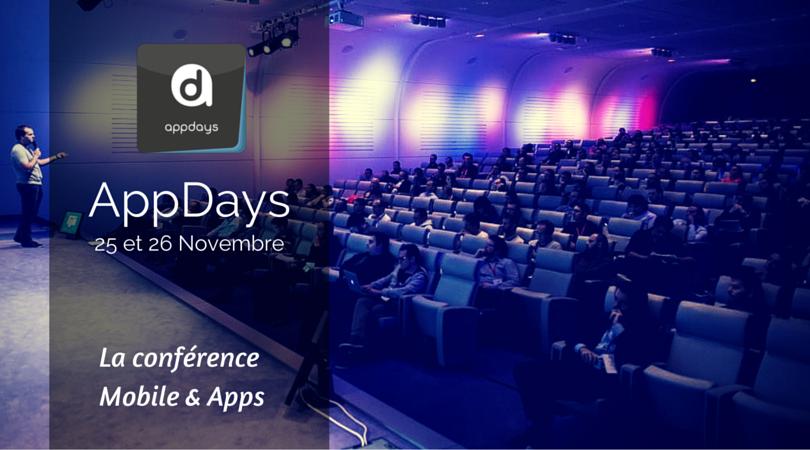 AppDays Conférence Mobile & Apps - 25 & 26 Septembre