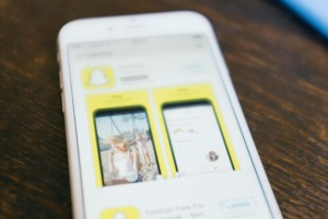 Snapchat une application mobile de messagerie